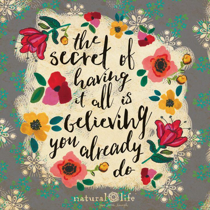 Believe in yourself! www.naturallife.com