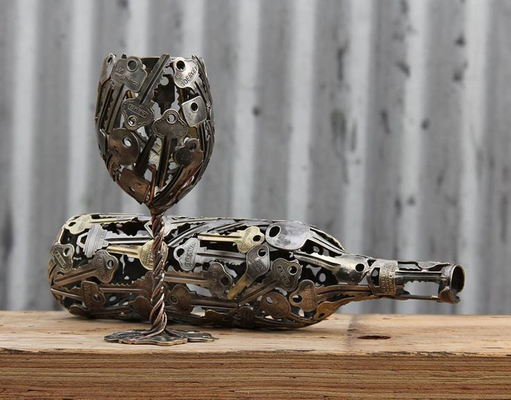 Unique Recycled Art From Discarded Keys And Coins