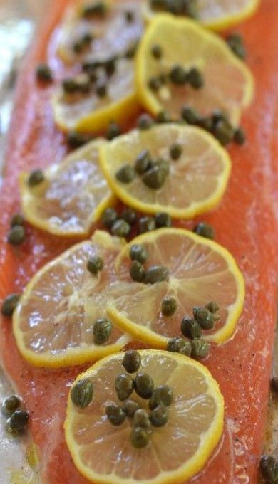 Grilled Foil Salmon with Lemon, Capers, and White Wine