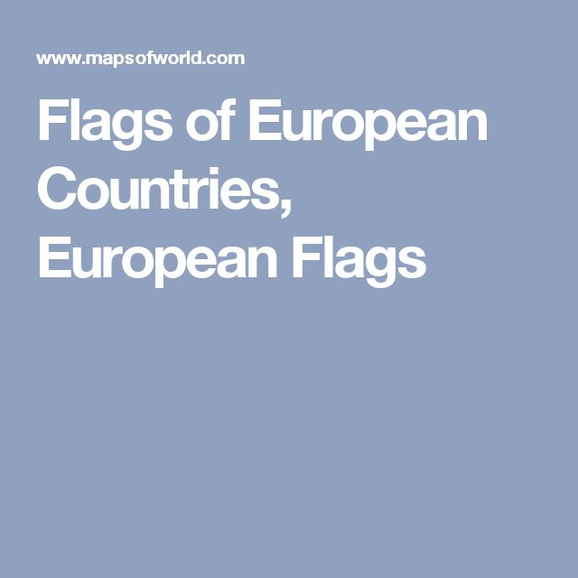 Flags of European Countries, European Flags