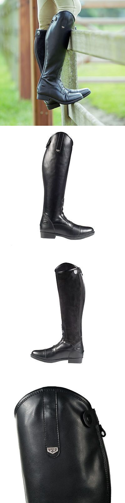 Western Boots 159002: Horze Ladies Spirit Rover Black Tall Contoured Riding English Field Boots Asst -> BUY IT NOW ONLY: $99.99 on eBay!