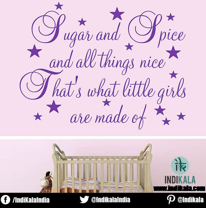 Sugar and Spice and all things nice That's what little girls are made of......  www.indikala.com  #girl #little
