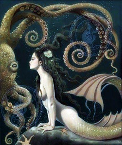 Mermaid & Octopus No. 3 by David Delamare