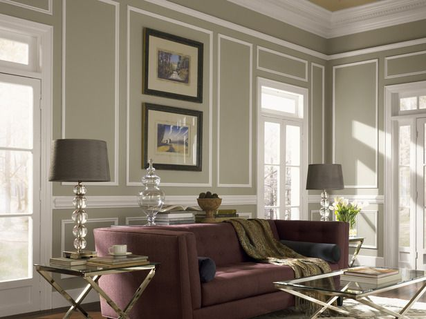 Framing the wall with paint or molding makes for great design with little clutter. I love the colors and airy-ness of this room!