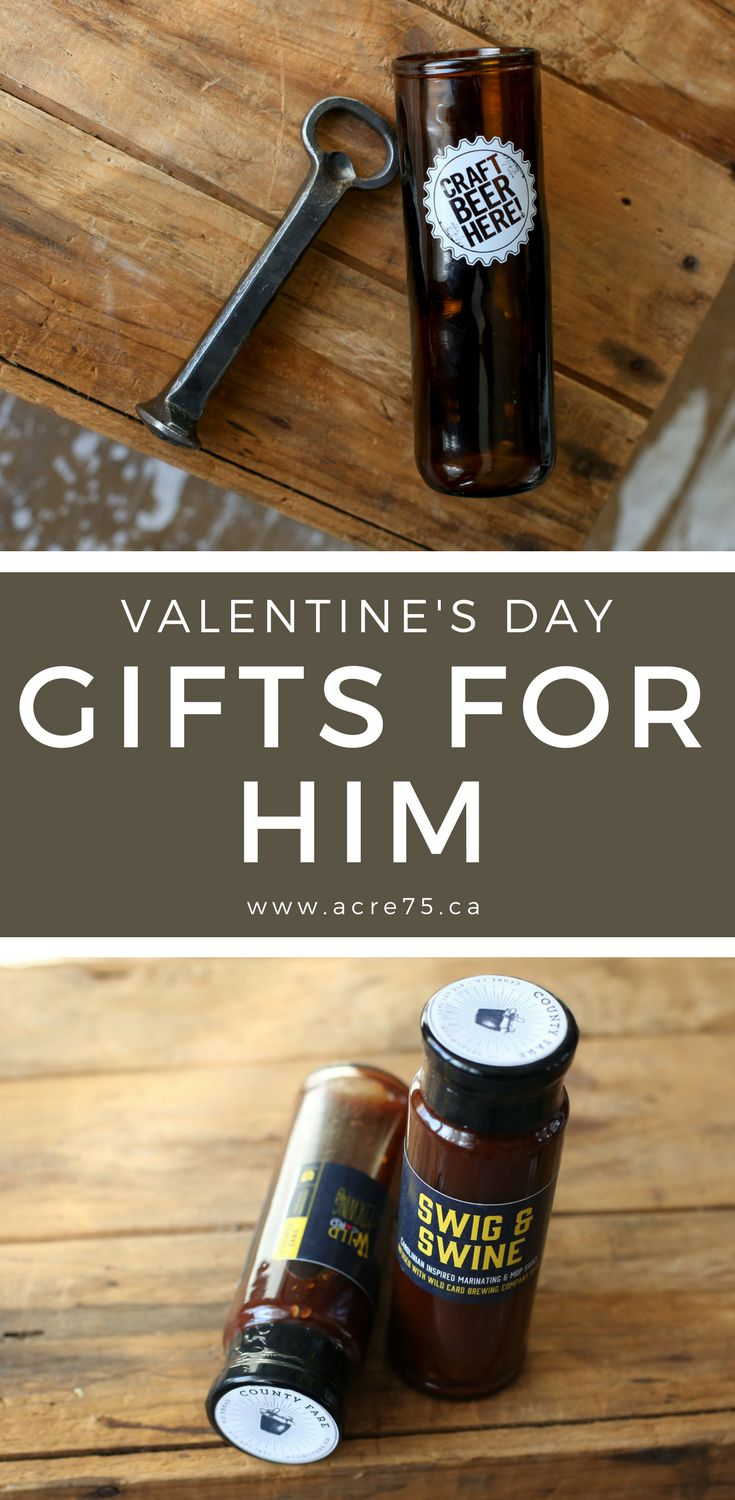 Valentines Day Gifts for Him, Gifts for Husband, Gifts for boyfriend, Gifts for Guys. Handcrafted in Canada. www.acre75.ca