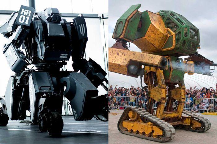 Suidobashi Heavy Industry's Kuratas and MegaBots' Mark II robots