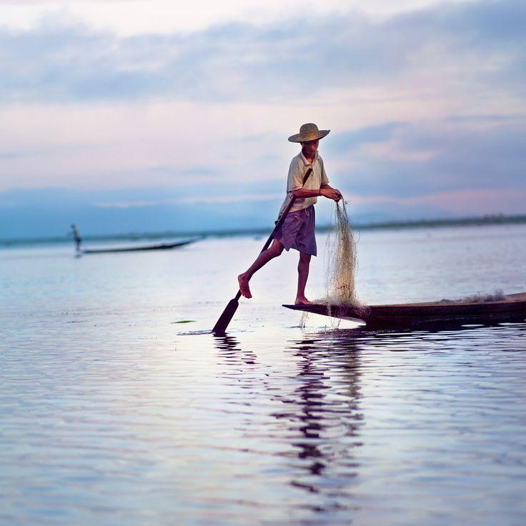 Pecheur sur le Lac Inle - Birmanie
