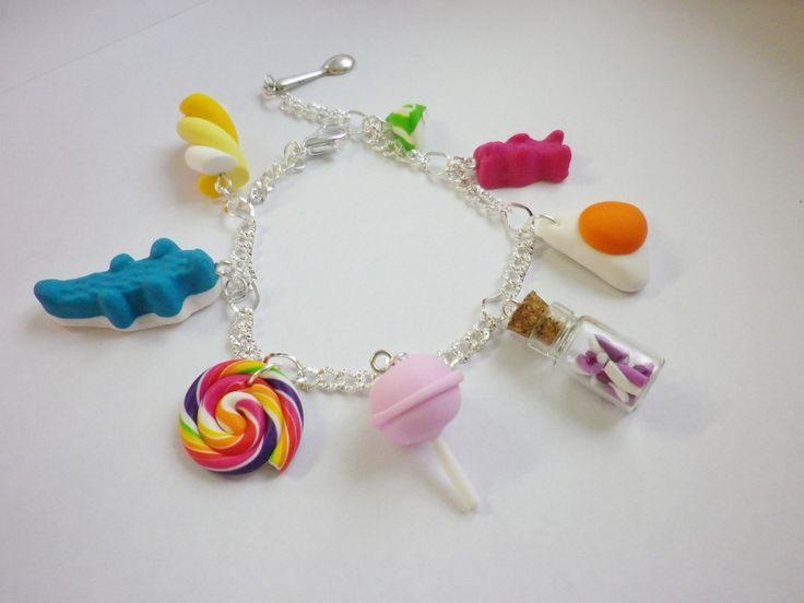 Bracelet gourmand bonbons fimo l bijou gourmand