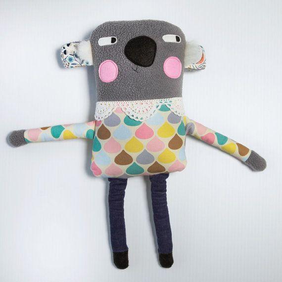 Plush Koala Softie Handmade Animal Soft Toy by alifeinthemaking