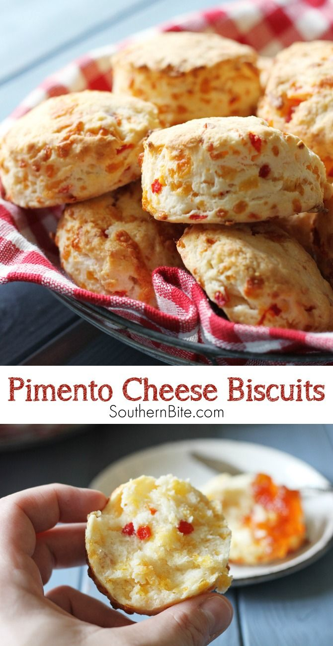 How do you make buttermilk biscuits even better?  You add pimento cheese, of course!  §