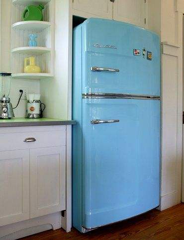 Frigidaire has these new appliances with the retro look but they are more energy and cost efficient.