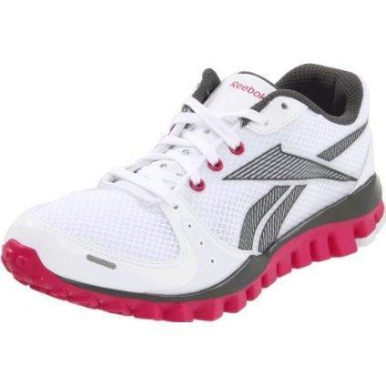 Reebok Women`s Realflex Transition Cross-Training Shoe,White/Rivet Grey/