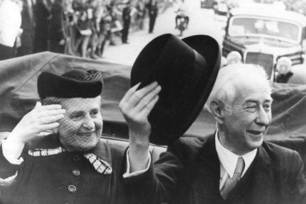 Theodor Heuss mit Gattin  1.Bundespräsident von Deutschland