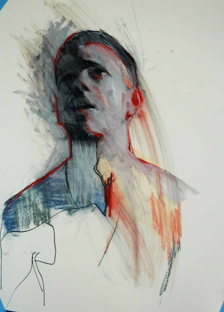 flickr.com:photos:markhorst Mark Horst, one of these mornings no.1, 2009, conte crayon, ink, gouche & pastel on paper