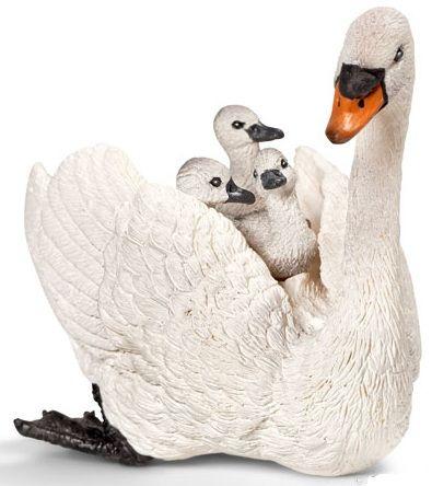 Schleich - White Swan w/ Cygnets