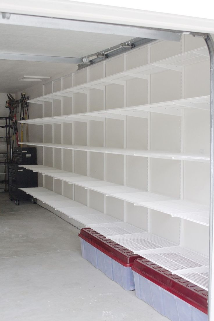 7 best garage shelving ideas images on pinterest - Wall mounted shelving ideas ...