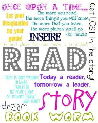 Super cool reading picture for your classroom or a child's room