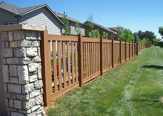 Beauty shots of Trex fencing - Trex Fencing, the Composite ...  |Stone And Wood Fence