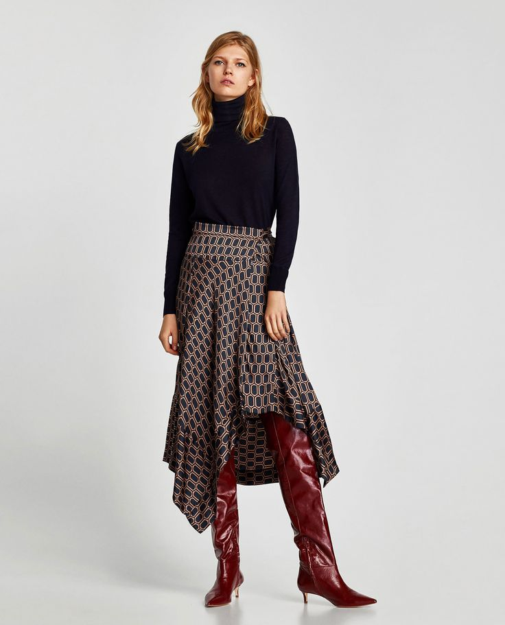 ZARA - WOMAN - GATHERED LEATHER OVER THE KNEE HIGH HEEL BOOTS