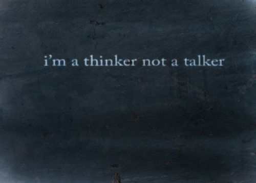 People tell me i never talk....at least not about important things.  I'm going to talk more.