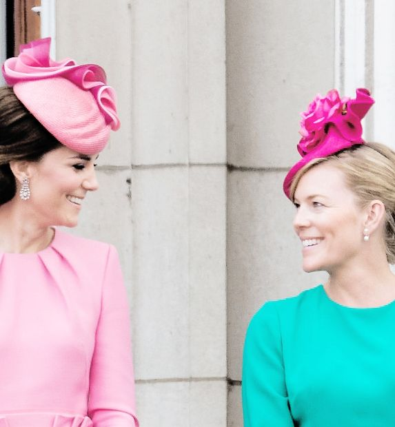 The Duchess of Cambridge and Autumn Phillips at Trooping the Colour, 17 June 2017. Photo by Samir Hussein.