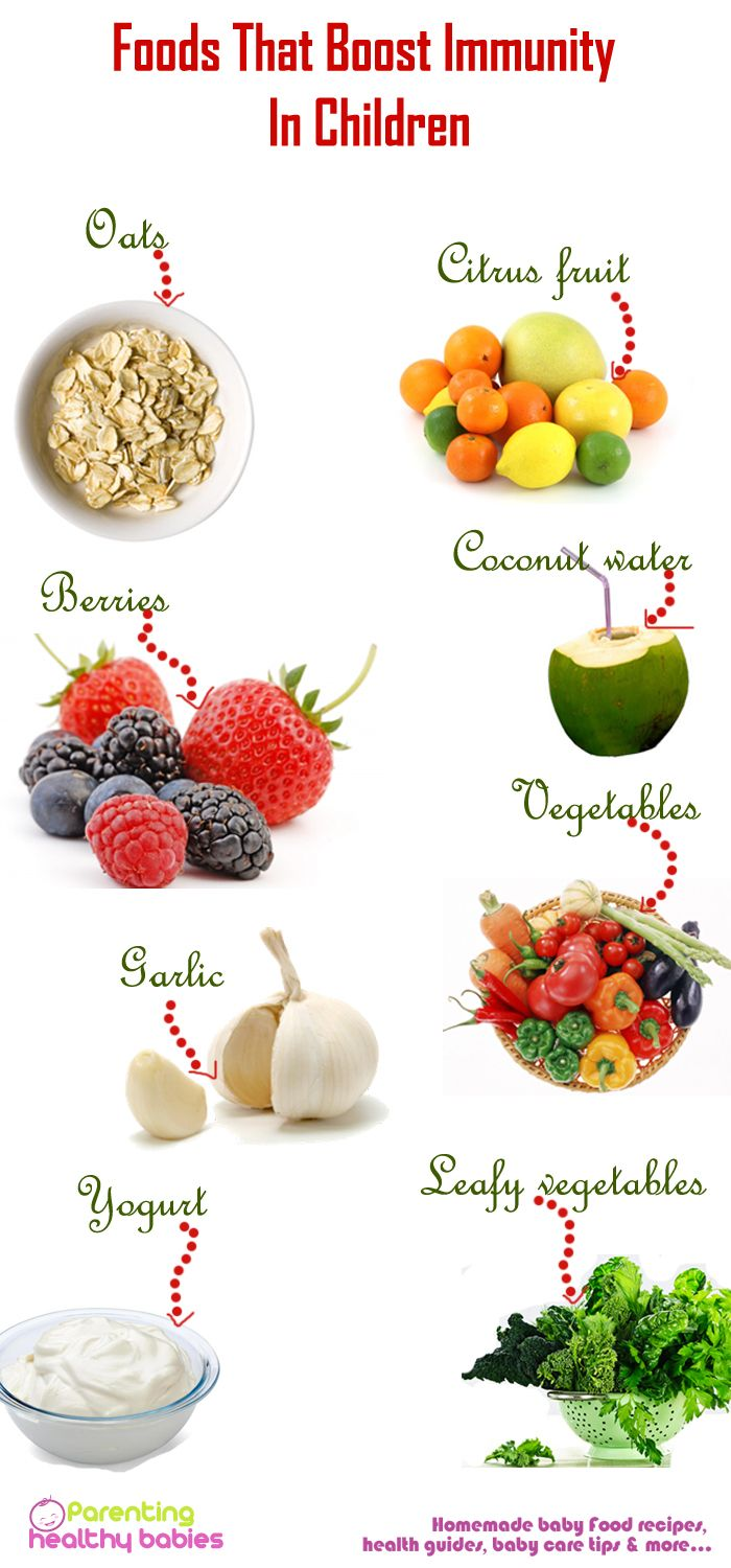 Must food to increase immunity in your child