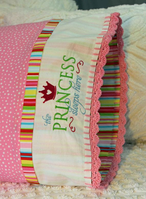 Handmade pillowcase fit for a Princess by SugarMagnoliaPillows, $35.00