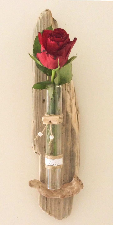 Soliflore en bois flotté par l'Atelier de Corinne : Accessoires à accrocher par atelier-de-corinne