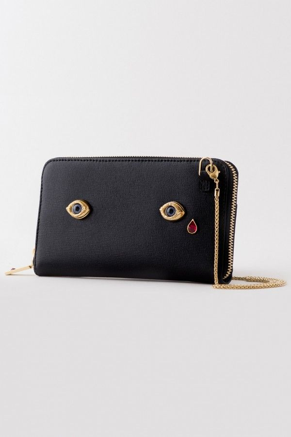 Ines Figaredo, Fall Winter 2016, Who 5 Glass Eyes Gold Chain Wallet