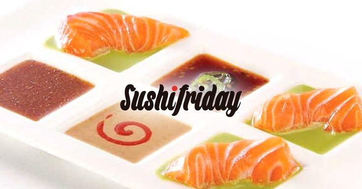 Sashimi de Salmón Noruego fresco con salsa y crema de wasabi