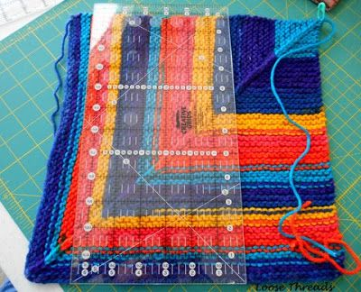 I get a lot of questions and comments about my tutorial for the knit mitered square sock blanket using leftover sock yarn. You can find ...
