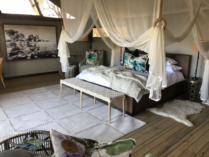 Executive Bedroom /honey moon suite Sable Alley Botswana created by a Tracy Kelly