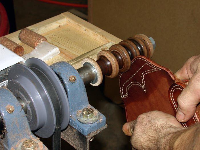 leather burnishing machine