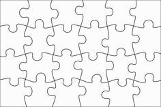 puzzle piece template printable free - Google Search                                                                                                                                                                                 More
