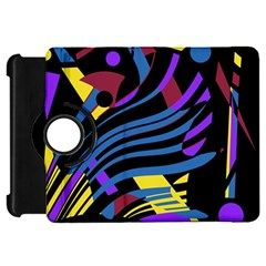 Decorative abstract design Kindle Fire HD Flip 360 Case by Valentinaart