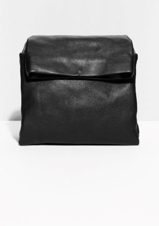 & Other Stories | Fold-Over Leather Shoulder Bag