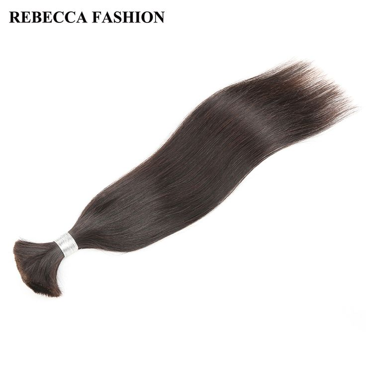 Rebecca Brazilian Remy Straight Bulk Human Hair For Braiding 1 Bundle Free Shipping 10 to 30 Inch Natural Color Hair Extensions
