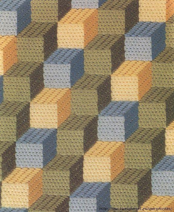 Three-Dimensional Boxes needlepoint