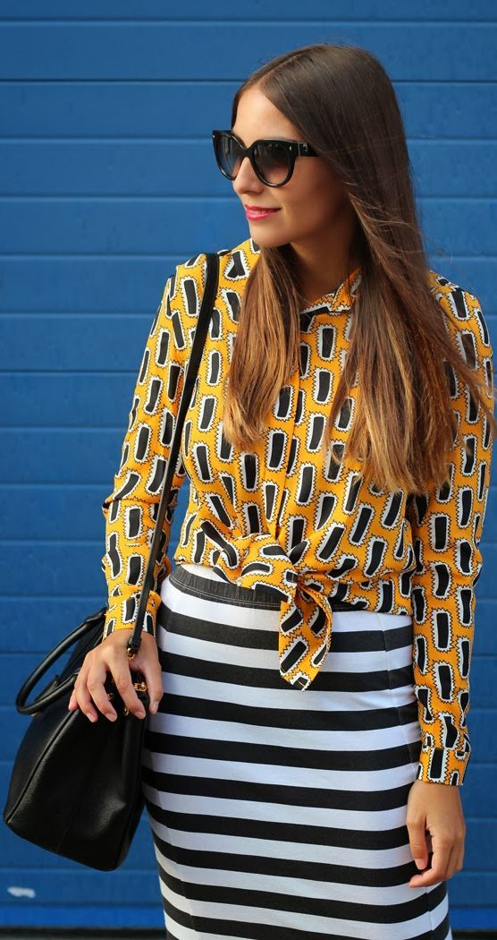 Mixing Prints by All What She Wants  #eclectic #mixprint #fashion