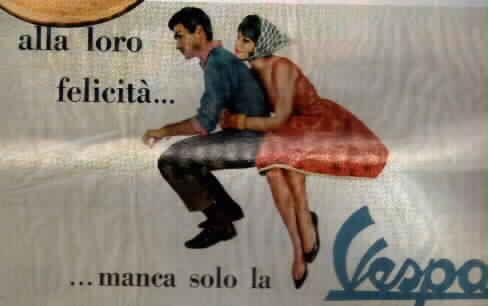 Immagini pubblicitarie Vespa e vecchie foto Vespa
