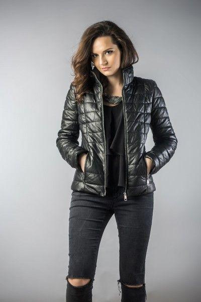 Leather jachet for women black 2036 (1)