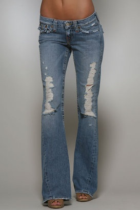 My all time Favorite Jeans EVER: True Religion Joey in Destroyed! They're discontinued... But that's what Amazons for :)