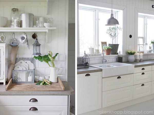 counter tops, farm sink, white cabinets and ORB hardware Yes please