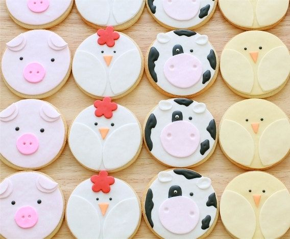 Farm Animal Cookies by bbsweetslove on Etsy. Darling!
