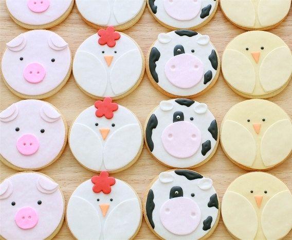 Farm Animal Cookies, via Etsy.