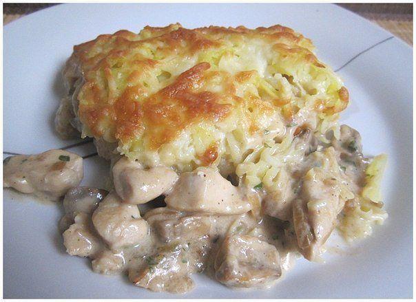 Курица с грибами, запечённая под картофельной шубой. Обсуждение на LiveInternet - Российский Сервис Онлайн-Дневников