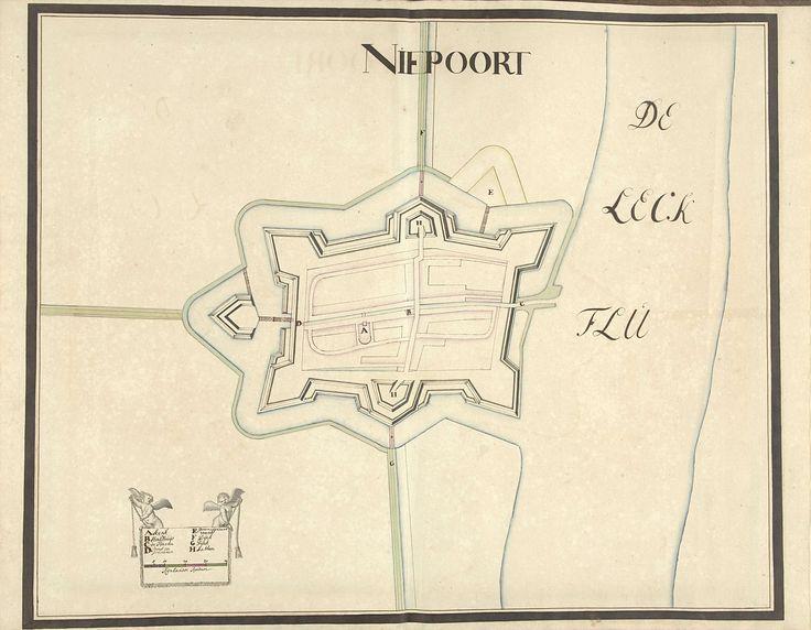 Plattegrond van Nieuwpoort (aan de Lek), ca. 1701-1715, Samuel Du Ry de Champdoré, 1701 - 1715