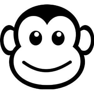 Funny Vinyl Decal | monkey face funny vinyl decal sticker 5
