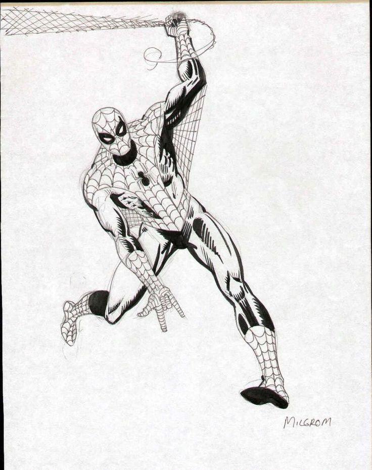 AL MILGROM SPIDERMAN ORIGINAL ART FULL FIGURE PINUP PAGE DRAWING EARLY 1980's | Collectibles, Comics, Original Comic Art | eBay!
