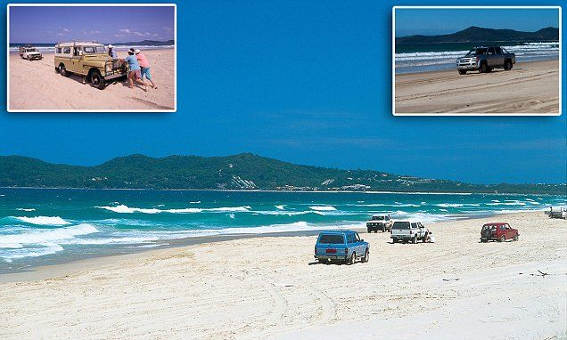Teewah Beach is a 40-mile Queensland beach that doubles up as a highway | Daily Mail Online